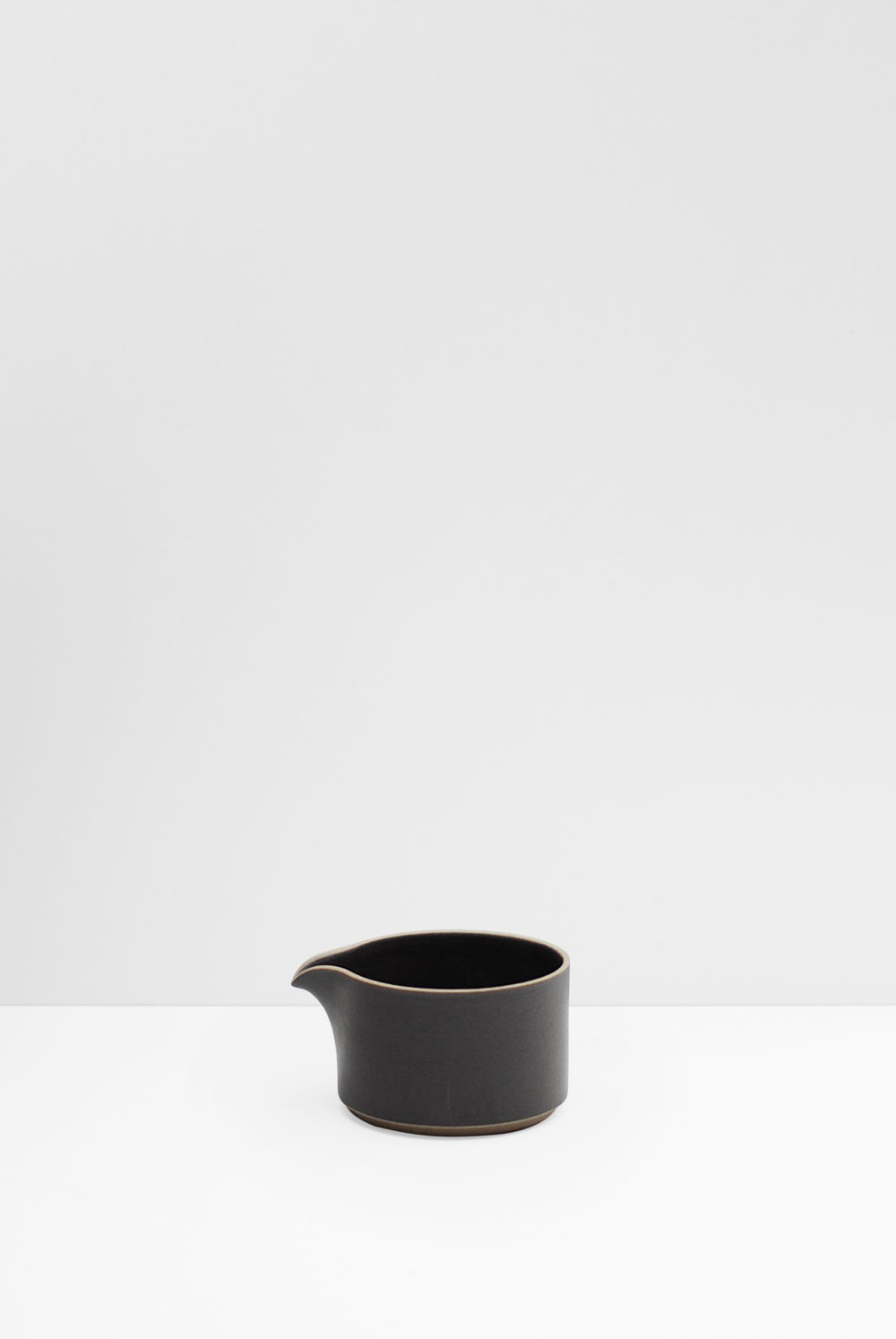 Hasami Porcelain milk pitcher matte black