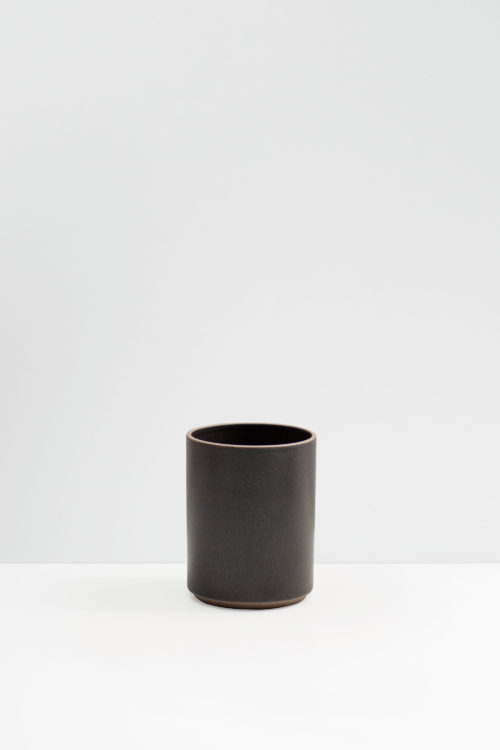 Hasami Porcelain small flower pot matte black