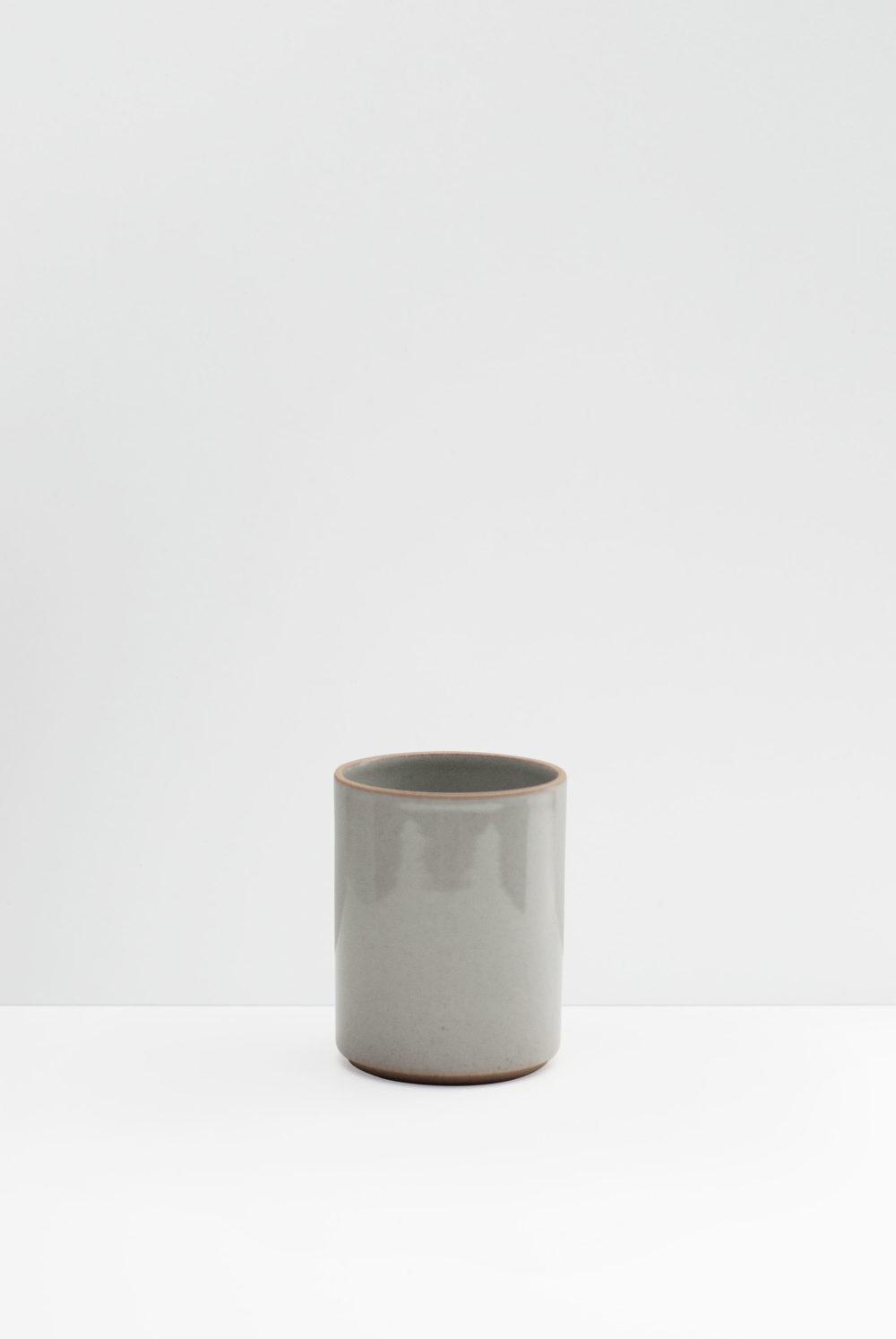 Hasami Porcelain small flower pot gray glazed