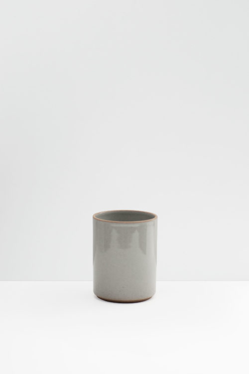 Hasami Porcelain small flower pot gray glazed