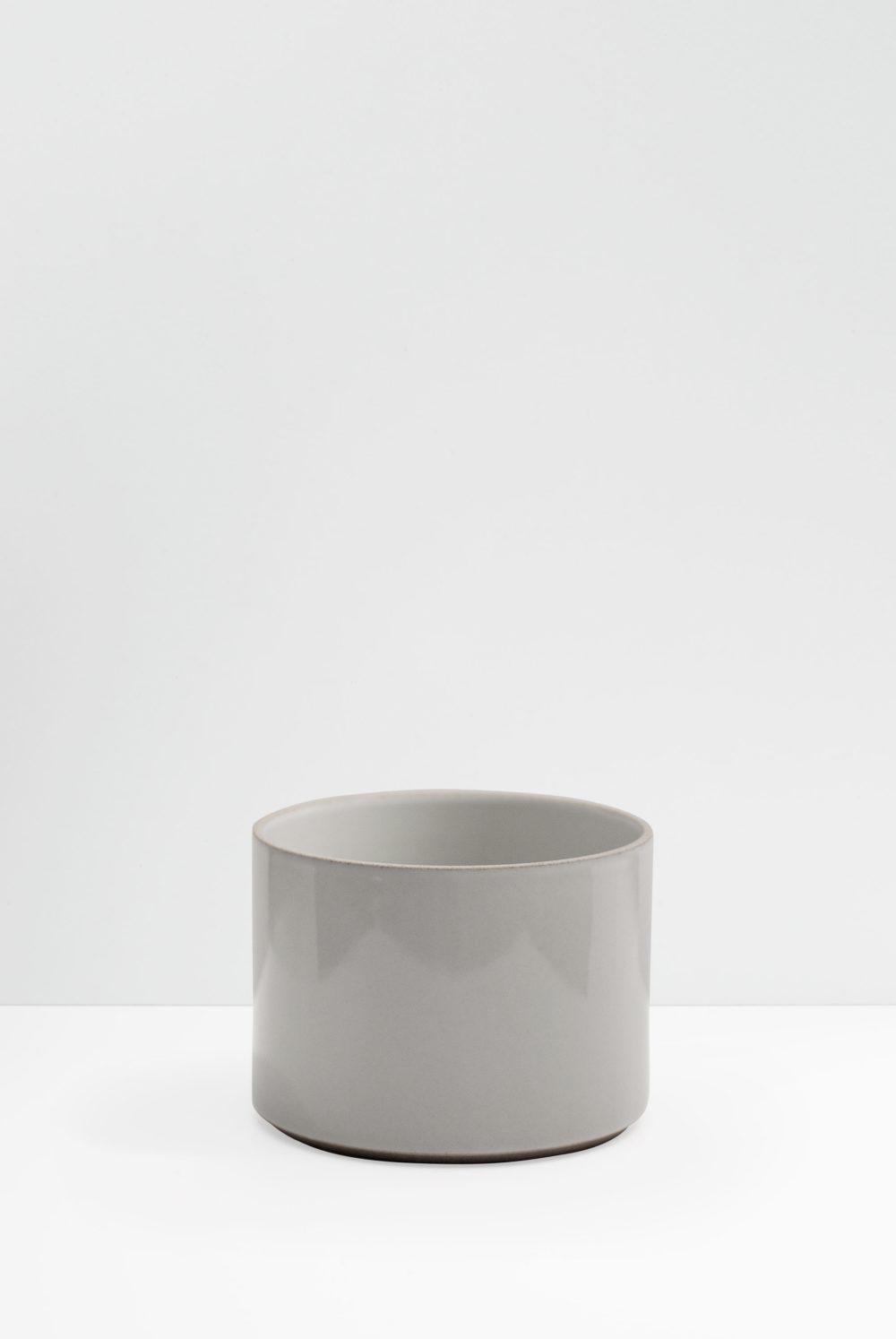Hasam Porcelain planter gray glazed