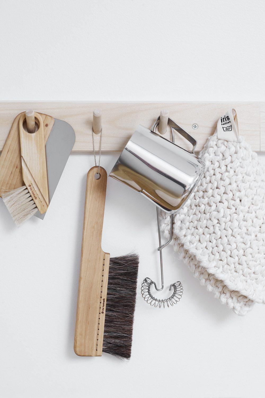 Iris Hantverk Wooden Rack With Hooks