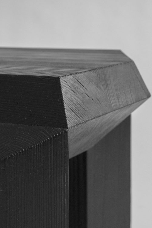 Sizar Alexis Ode Side Table Charred Wood Pine