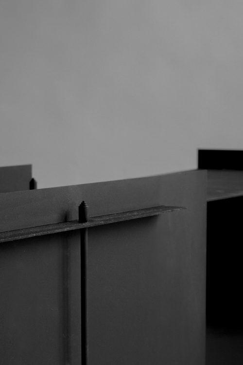 Sizar Alexis Pilier Blackened Steel Sideboard