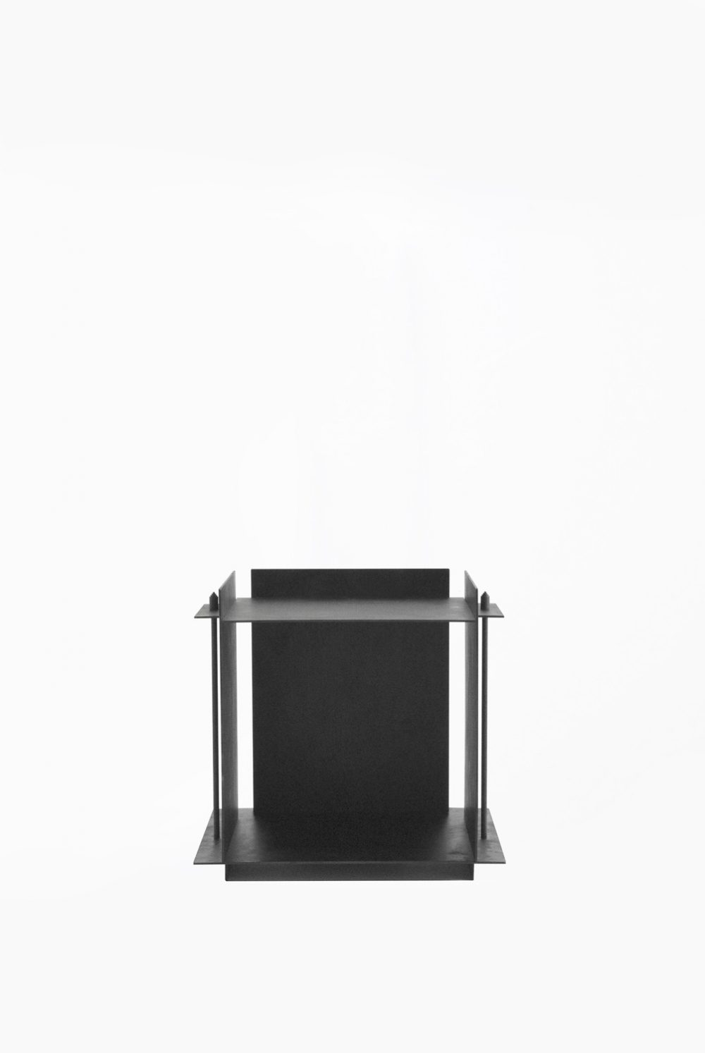 Sizar Alexis Pilier Blackened Steel Side Table